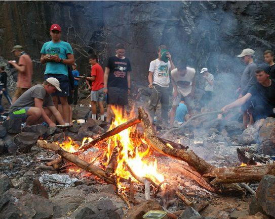 Zwartkloof-campsite-fire